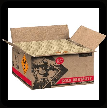 Vuurwerktotaal gold Brutality XXL Verbundfeuerwerk