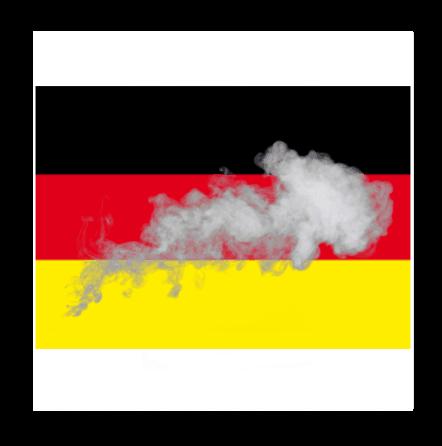 Rauchflagge Deutschland