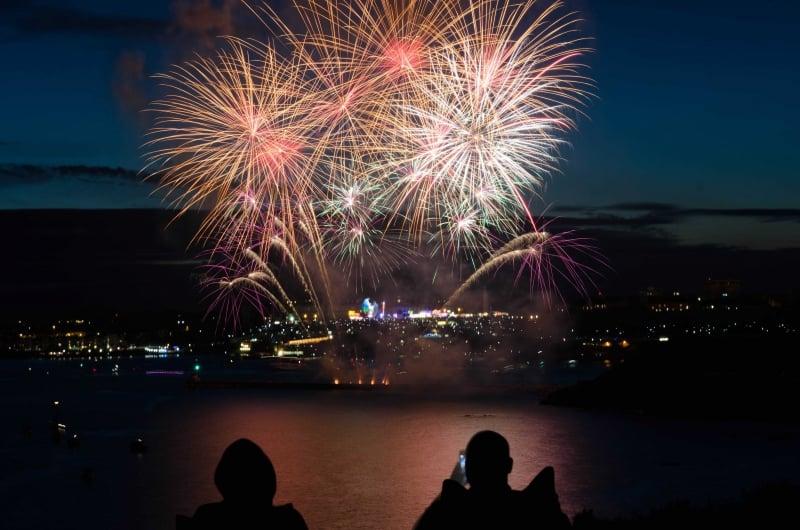 Feuerwerksvorführung Mockswiese