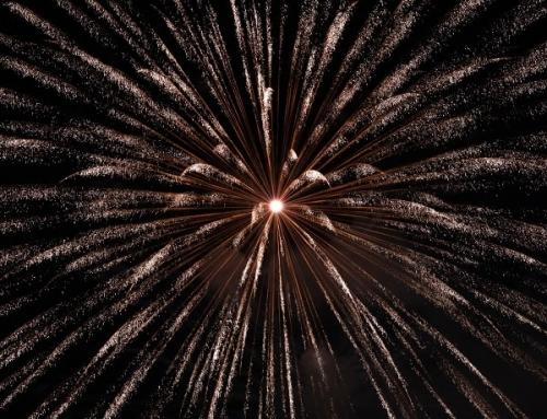 Feuerwerk zur Hochzeit in Oerlenbach