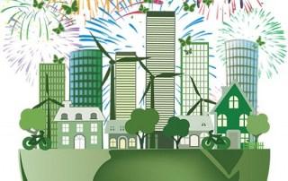 umweltfreundliches Feuerwerk