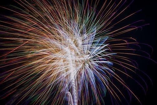 Geburtstagfeuerwerk in Unterschwappach