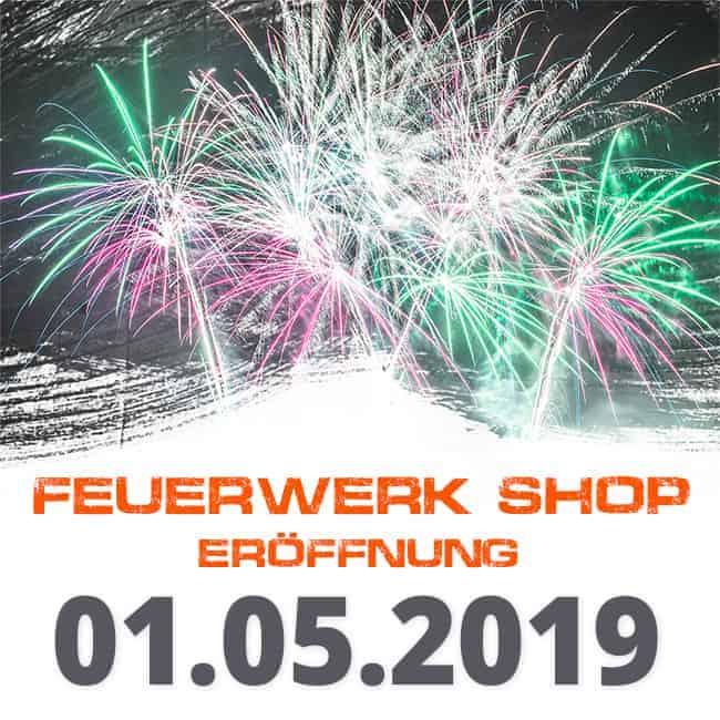Feuerwerk Shop Eroeffnung 2019