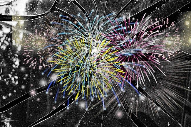 Versand von Feuerwerk zu Silvester