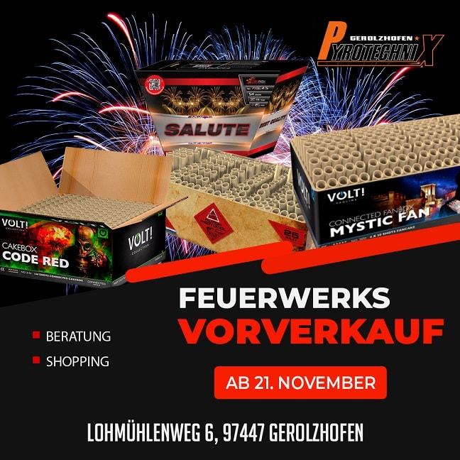 Feuerwerks Vorverkauf 2020 Pyrotechnix