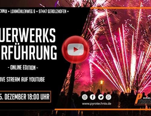 Feuerwerksvorführung 2020 Livestream